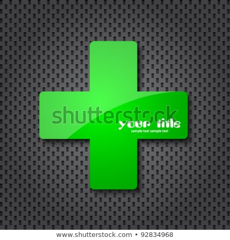 Hospital color icons on green background Stock photo © punsayaporn