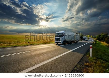 Stockfoto: Oplegger · vrachtwagen · gedetailleerd · realistisch · industrie · trekker