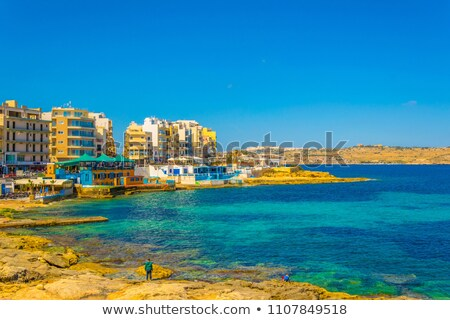 Coast of Bugibba Stock photo © Spectral