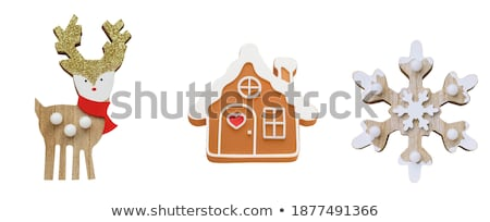 Stock photo: three christmas figurines