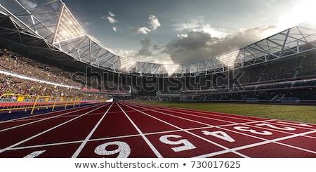 стадион работает красный трек области спорт Сток-фото © 5xinc