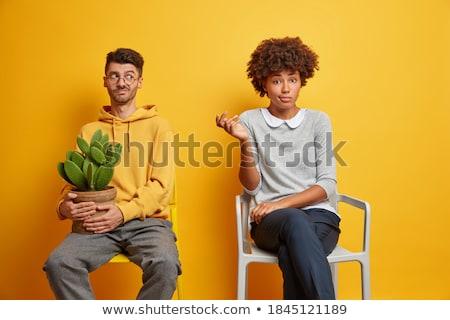 casual couple posing together on studio background Stock photo © feedough