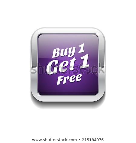Buy 1 Get 1 Free Purple Circular Vector Button Stock photo © rizwanali3d