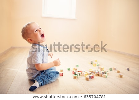 gyermek · izolált · fehér · boldog · fogak · vicces - stock fotó © smitea