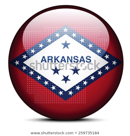 Map with Dot Pattern on flag button of USA Arkansas State Stock photo © Istanbul2009