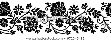 Feketefehér keret illusztráció díszítő fotó bizonyítvány Stock fotó © Irisangel