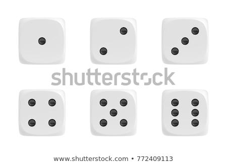Dés nombre casino succès Photo stock © PokerMan
