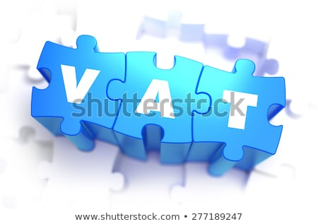 Vat - White Word on Blue Puzzles. Stock photo © tashatuvango