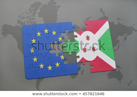 europeu · união · Burundi · bandeiras · quebra-cabeça · vetor - foto stock © istanbul2009