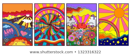 Vector abstract psychedelic swirl patroon partij Stockfoto © H2O