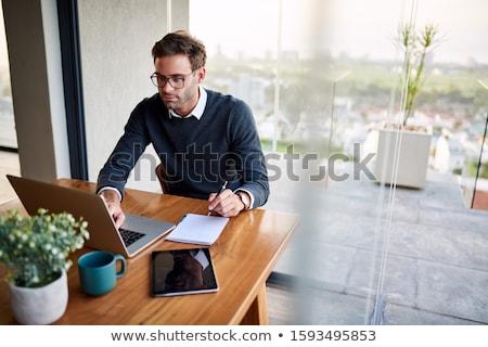 Business man notepad Stock photo © fuzzbones0