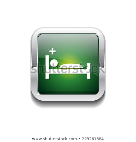 Heath Care Bed Green Vector Icon Design Stock photo © rizwanali3d