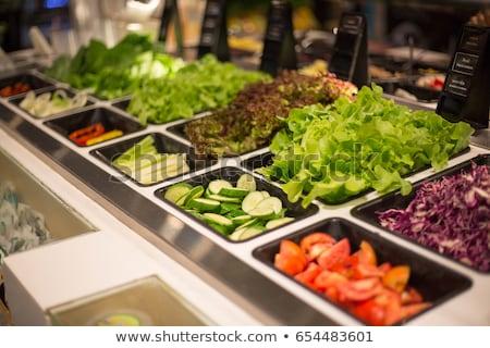 Салат Бар ресторан здоровья области таблице Сток-фото © elxeneize