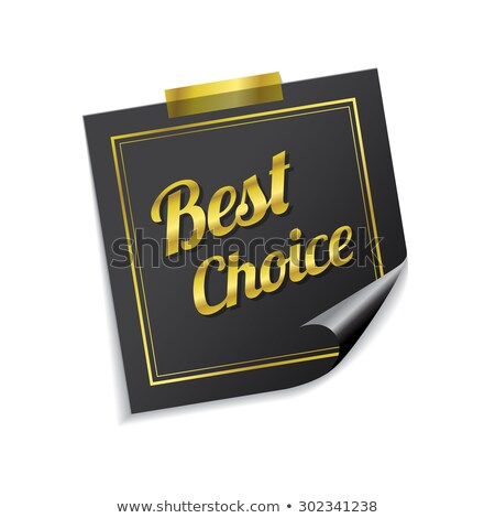 best choice golden sticky notes vector icon design stock photo © rizwanali3d