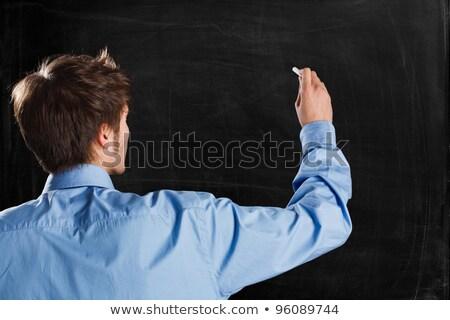 Empresário escrita giz lata próprio texto Foto stock © sqback