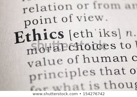 Ethics Dictionary Definition Stock photo © chris2766