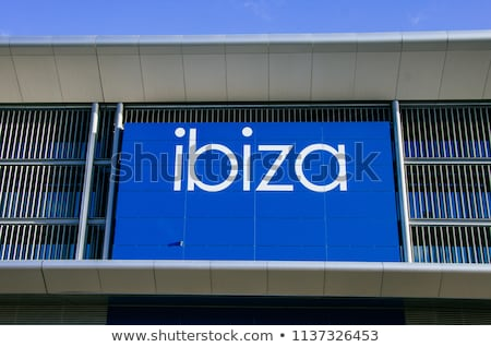 Airplane in the blue sky. Departure from Ibiza airport Stock photo © amok