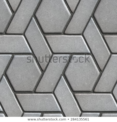 Gray Paving Slabs Built of Rectangles and Rhombuses.  Stock photo © tashatuvango