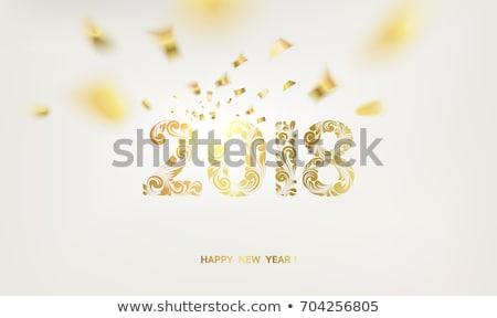 happy new year 2016 with stars over blue background Stock photo © marinini