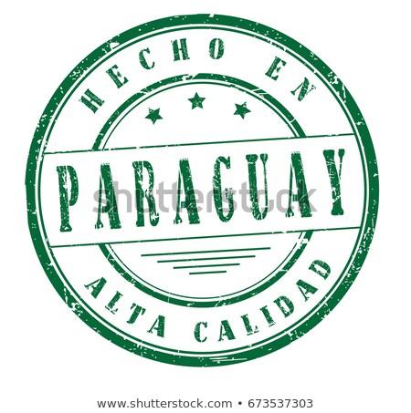 Paragwaj kraju banderą Pokaż tekst Zdjęcia stock © tony4urban