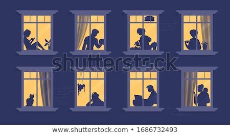 Apartment houses at evening Stock photo © Paha_L