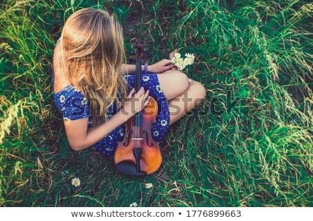 Natural blonde girl posing in tights. Stock photo © PawelSierakowski