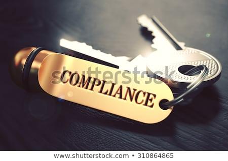 Keys with Word Accordance on Golden Label. Stock photo © tashatuvango