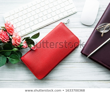 leather wallet on white stock photo © cherezoff