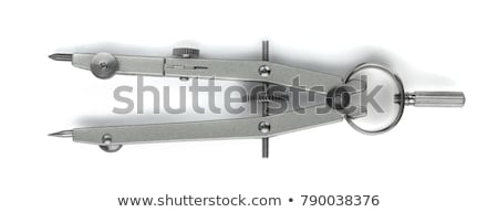 Stock photo: drafting compass isolated