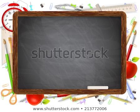 groene · appel · klok · realistisch · illustratie · witte - stockfoto © beholdereye