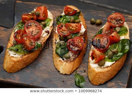 traditional italian bruschettas stock photo © badmanproduction