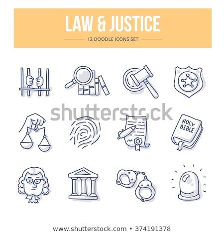 droit · justice · crime · ligne · cercle - photo stock © -talex-