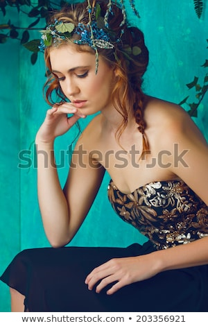 Young attractive woman in glamour corset   Stock photo © Elisanth