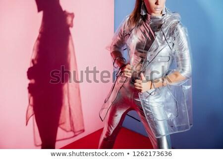 şık · kadın · ayakta · yalıtılmış · beyaz · seksi - stok fotoğraf © deandrobot