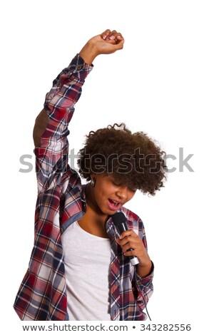 Woman Singer Recording A Ballad Stock photo © MilanMarkovic78