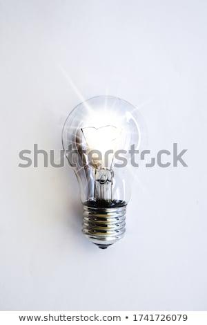 Elektromos villanykörte illusztráció fény lámpa energia Stock fotó © bluering