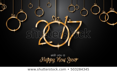 Stock photo: 2017 Happy New Year Background for your Flyers and Greetings Card