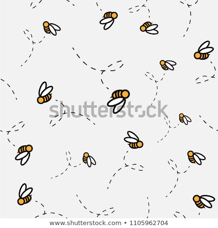 Stock photo: Little bee flying on white background