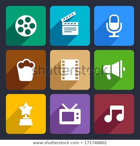 absztrakt · filmfelvétel · tevékenység · vektor · zene · televízió - stock fotó © get4net