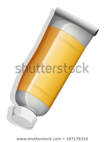 A topview of an orange medicinal tube Stock photo © bluering