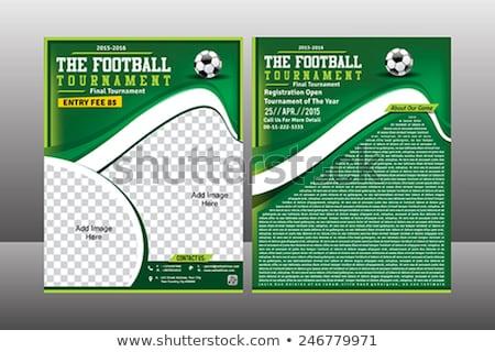 サッカー チラシ テンプレート スポーツ ボール 戻る ストックフォト © rioillustrator