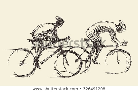 A sketch of a bicyclist Stock photo © bluering