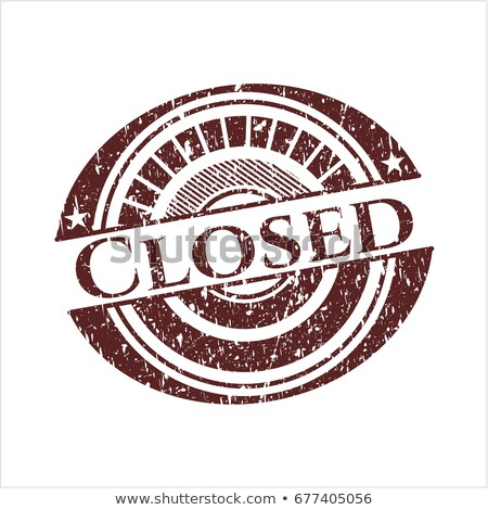 Closed rubber stamp Stock photo © IMaster