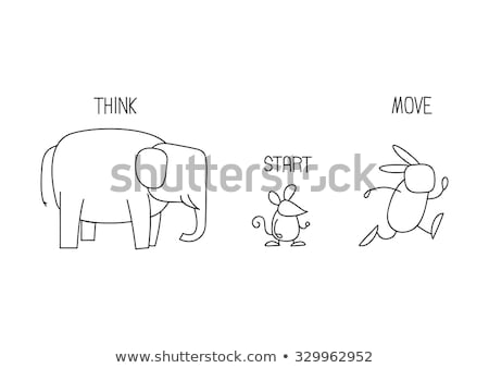 Dacht muis cartoon illustratie vector Stockfoto © derocz