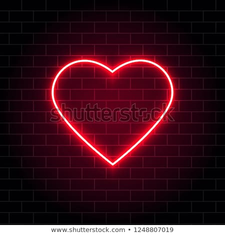 Valentine Neon Hearts Stock photo © Voysla