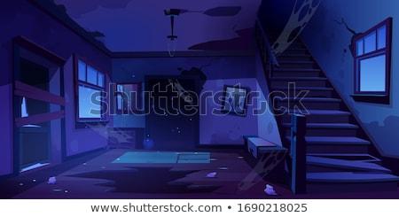 Scène vuile prullenbak vloer illustratie weg Stockfoto © bluering