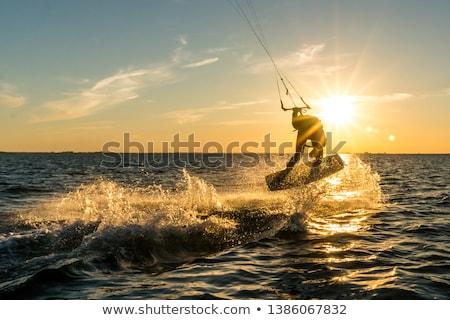アクション · 美しい · スプレー · ビーチ · 空 · 男 - ストックフォト © homydesign