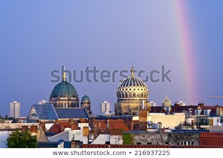 Nieuwe synagoge Berlijn Duitsland hoofd- beschadigd Stockfoto © Xantana