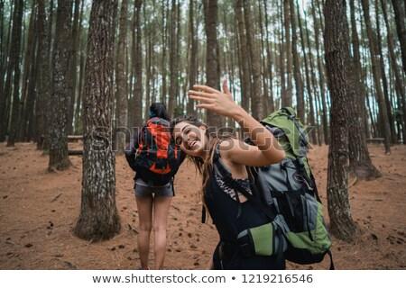 Jonge kaukasisch reiziger hand Stockfoto © RAStudio