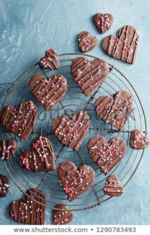 Cookies in chocolate glaze Stock photo © restyler